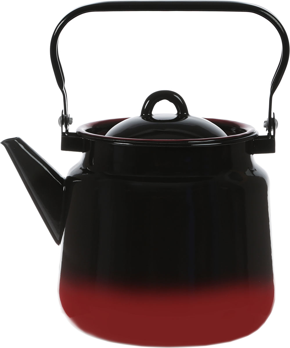 Чайник СтальЭмаль, цвет: черный, красный, 3,5 л. 2с26я2с26я_черный, красныйЧайник СтальЭмаль выполнен из высококачественного стального проката, покрытого двумяслоями жаропрочной эмали. Такое покрытие защищает сталь от коррозии, придает посудегладкую стекловидную поверхность и надежно защищает от кислот и щелочей. Чайник оснащенподвижной стальной ручкой и крышкой с пластиковой ручкой.Эстетичный и функциональный чайник будет оригинально смотреться в любом интерьере. Подходит для газовых, электрических, стеклокерамических, индукционных плит. Можно мытьв посудомоечной машине.Диаметр (по верхнему краю): 15 см. Высота чайника (без учета ручки и крышки): 17 см.