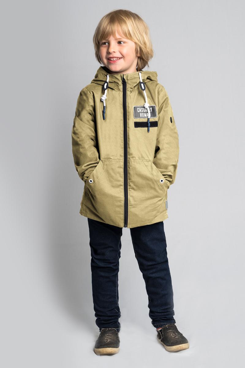Куртка для мальчика Boom!, цвет: бежевый. 80042_BOB. Размер 14080042_BOBСтильная куртка для мальчика от Boom! на флисовой подкладке выполнена из натурального хлопка. Идеальна для прогулок в межсезонье или прохладными летними вечерами. Модель с длинными рукавами и капюшоном застегивается на молнию. По бокам дополнена карманами.