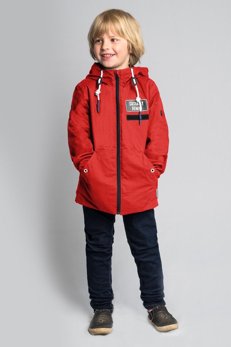 Куртка для мальчика Boom!, цвет: красный. 80042_BOB. Размер 13480042_BOB