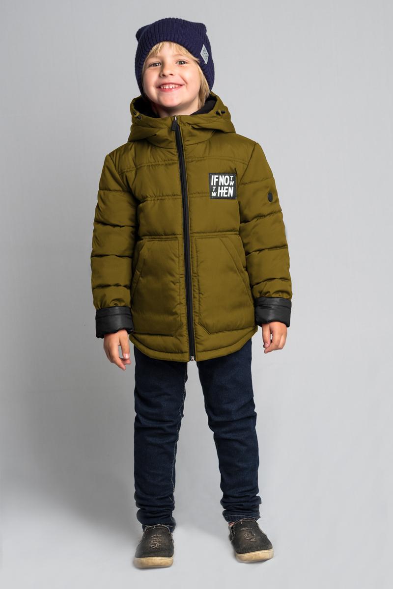 Куртка для мальчика Boom!, цвет: хаки. 80040_BOB. Размер 12280040_BOBКуртка для мальчика Boom! выполнена из высококачественного материала. Модель с капюшоном застегивается на застежку-молнию. Куртка дополнена двумя боковыми карманами.