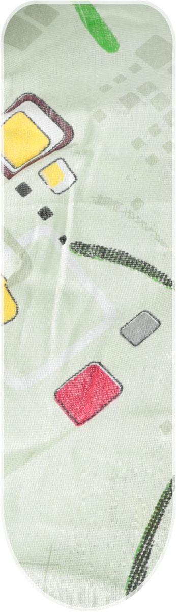 Чехол для гладильной доски Eva, с поролоном, на резинке, цвет: зеленый, 119 х 37 см чехол для гладильной доски paterra цветы с поролоном цвет кремовый сиреневый 146 х 55 см