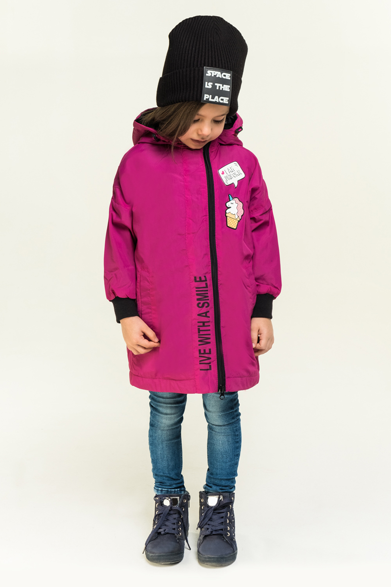 Плащ для девочки Boom!, цвет: розовый. 80010_BOG. Размер 158