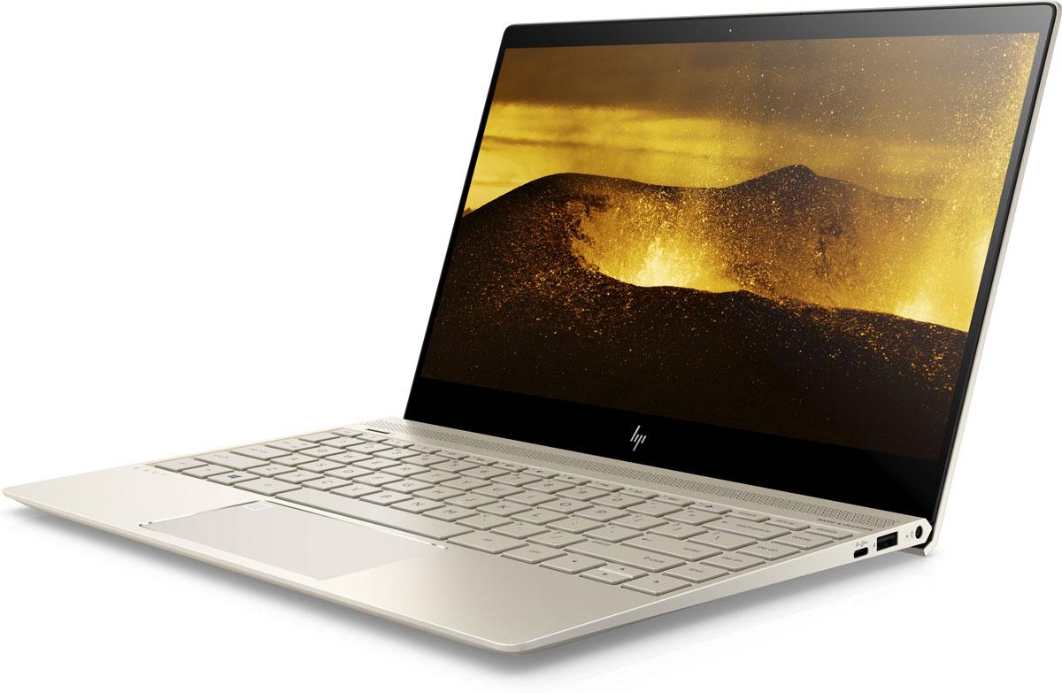 HP Envy 13-ad107ur, Silk Gold (2PP96EA)1000444481Удивительно компактный, но при этом обладающий необычайной мощностью, новейший ноутбук HP Envy 13 отвечает всем требованиям к портативности. Этот небольшой, изящный и оснащенный новейшим оборудованием ноутбук справится с любыми задачами, даже с необыкновенно сложными.Процессор Intel Core i7 8-го поколения. Это высокопроизводительное решение легко справится с большим количеством задач, улучшая возможности работы с ПК и обеспечивая потрясающее качество видео с разрешением 4K.Аккумулятор c большим ресурсом работы и новейший процессор Intel Core вместе обеспечивают невероятную производительность и позволяют справиться даже с самыми сложными задачами. Компактный. Легкий. Облегчающий жизнь. Это легкое (от 1,38 кг), но мощное устройство было разработано для максимальной мобильности. Тщательно продуманные элементы дизайна и дисплей с ультратонкой рамкой обеспечивают стильный и компактный вид этого устройства в цельнометаллическом корпусе.Пробудите свои чувства. Необыкновенно яркий дисплей IPS формата Full HD, четыре динамика HP с глубокими басами и профессиональная аудиосистема Bang & Olufsen задают новый уровень качества развлечений.Дисплей Full HD IPS. Оцените потрясающую четкость изображения с любого угла. Благодаря широкому углу обзора 178° и высокому разрешению 1920 x 1080 изображение на экране будет отлично выглядеть с любой стороны.Твердотельный накопитель. Благодаря отсутствию движущихся частей (которые характерны для традиционных жестких дисков) твердотельные накопители отличаются большей эффективностью, надежностью и производительностью. Вам больше не придется ждать завершения долгой загрузки или передачи файлов.Используйте удобный разъем USB-C для зарядки устройства, подключения внешних дисплеев или передачи данных на скорости до 5 Гбит/с. Разъем специально устроен таким образом, чтобы в него можно было вставлять кабели любой стороной.Технология быстрой зарядки HP Fast Charge. Вам больше не придется ждать зарядки у