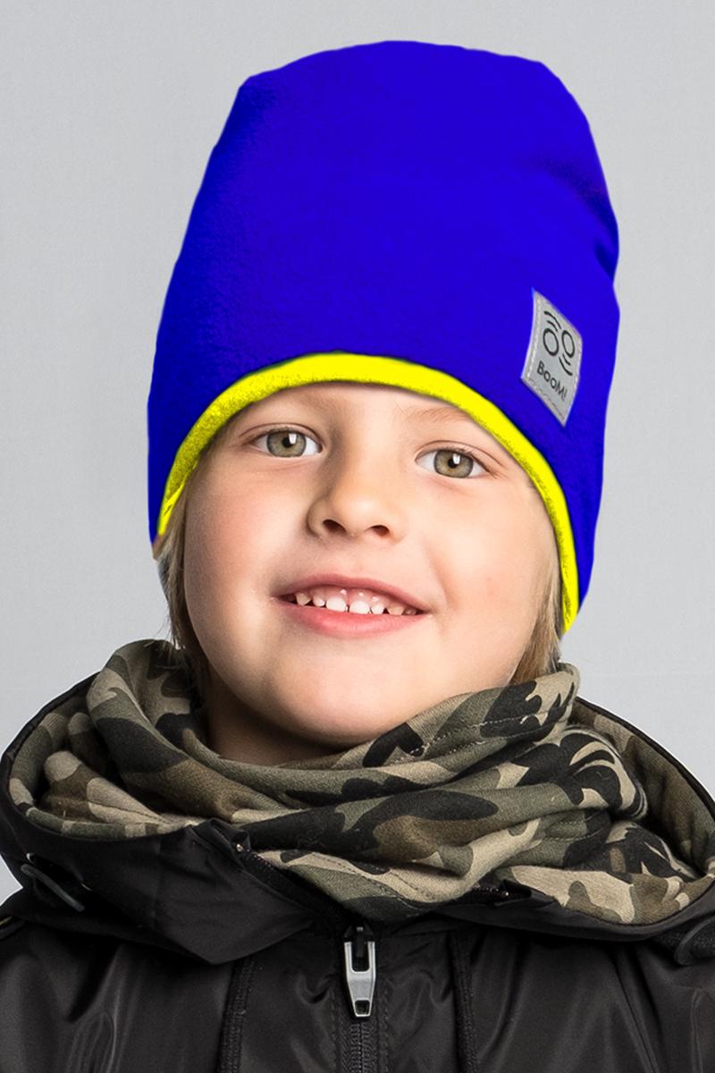 Шапка детская Boom!, цвет: синий. 80273_BAU. Размер 52/5480273_BAUМягкая и уютная детская шапка Boom! изготовлена из полиэстера. Модель оформлена нашивкой с логотипом бренда.Размер, доступный для заказа, является обхватом головы ребенка.