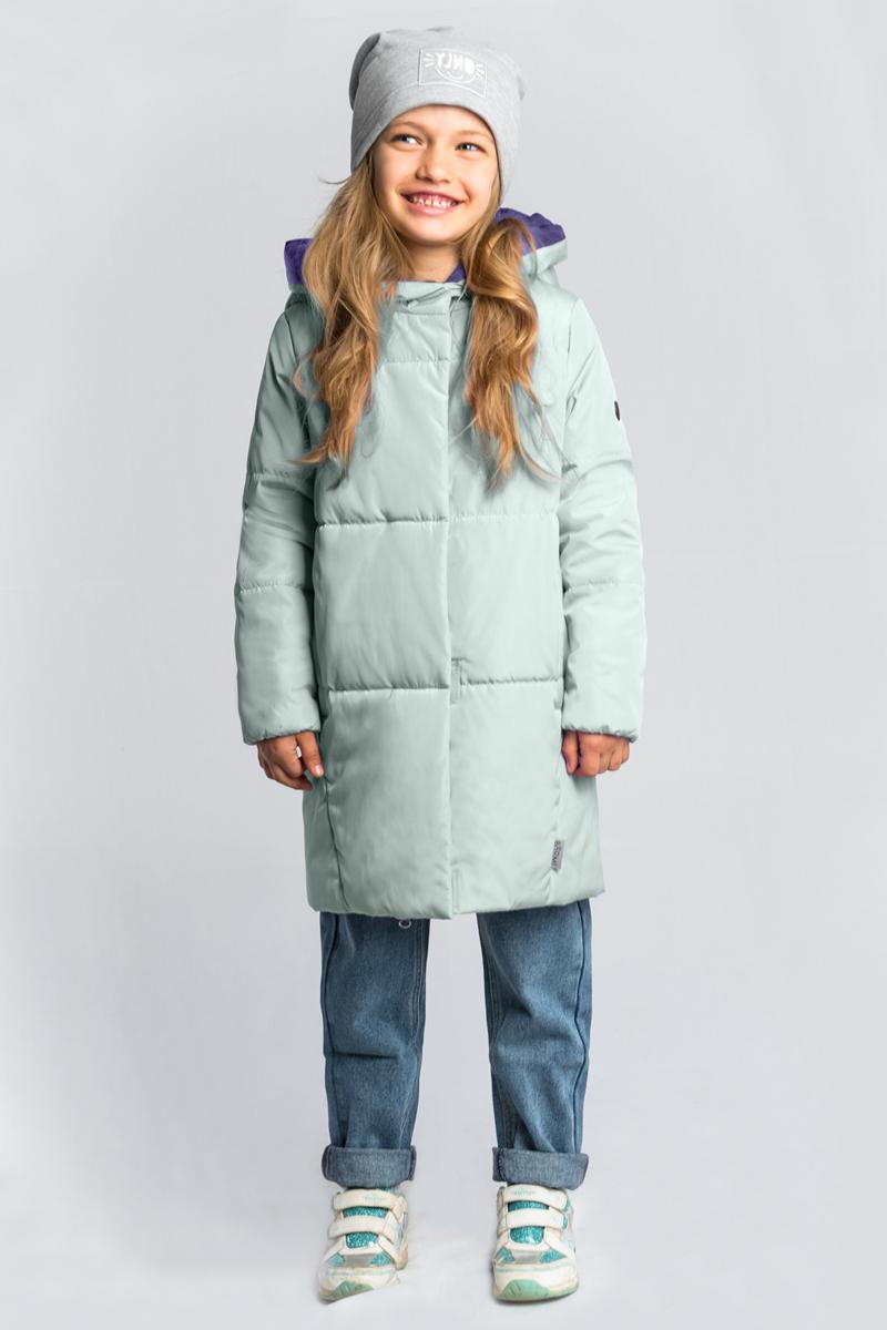 Пальто для девочки Boom!, цвет: зеленый. 80030_BOG. Размер 158