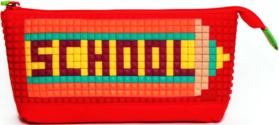 4ALL Пенал Kids цвет красныйRP61-01NДетский пенал для творчества с уникальной силиконовой пенелью для создания мозаичной картинки с набором битов KIDS