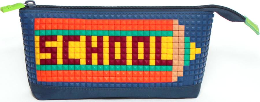 4ALL Пенал Kids цвет синийRP61-03NДетский пенал для творчества с уникальной силиконовой пенелью для создания мозаичной картинки с набором битов KIDS