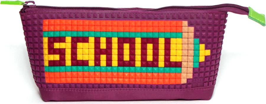 4ALL Пенал Kids цвет фиолетовый0909429Детский пенал для творчества с уникальной силиконовой пенелью для создания мозаичной картинки с набором битов KIDS
