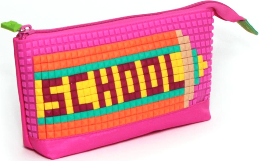4ALL Пенал Kids цвет фуксияRP61-04NДетский пенал для творчества с уникальной силиконовой пенелью для создания мозаичной картинки с набором битов KIDS