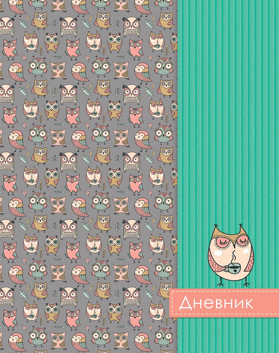 Апплика Дневник школьный для младших классов Паттерн Совы С3621-03 апплика дневник школьный паттерн зеленый