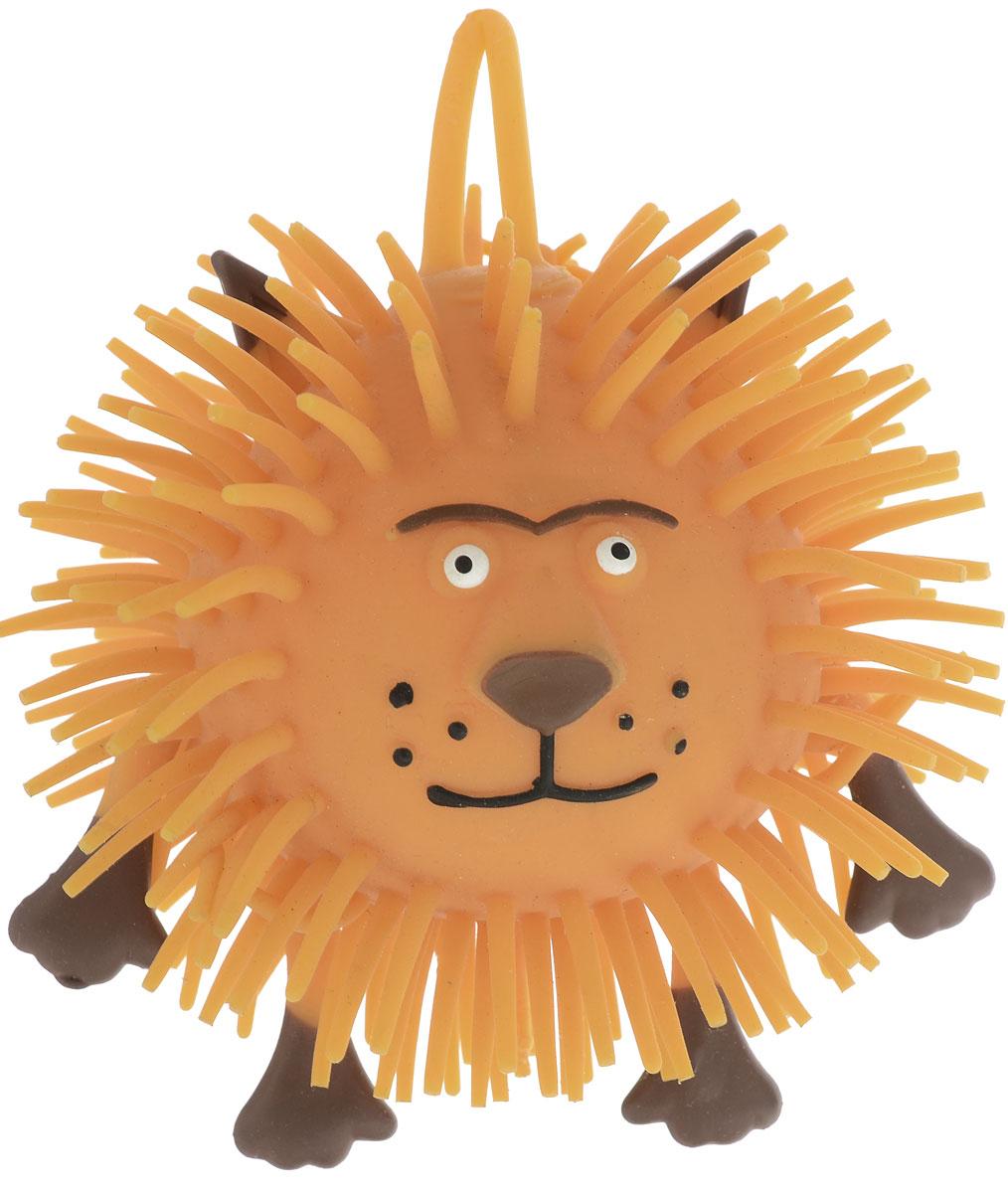 1TOY Игрушка-антистресс Ё-Ёжик Животное Лев цвет коричневый игрушка