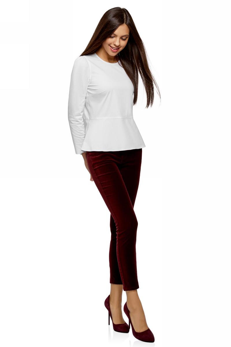 Блузка женская oodji Ultra, цвет: белый. 11401273/26357/1000N. Размер 34-170 (40-170) пуловеры oodji пуловер