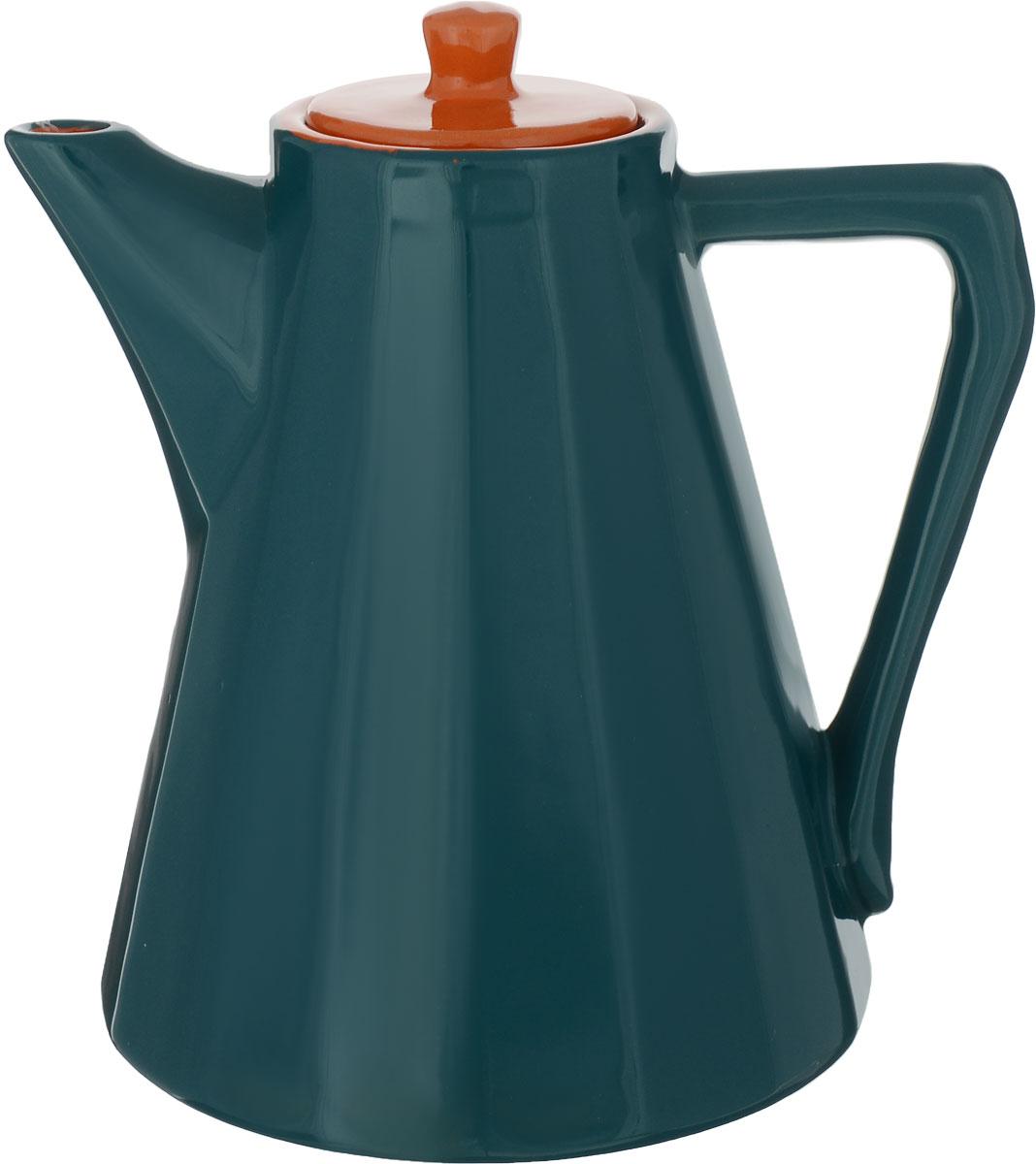 """Керамический кофейник Борисовская керамика """"Ностальгия"""" отлично сохраняет тепло. В таком кофейнике кофе долго остается горячим и можно продолжать беседу за чашечкой кофе не прерываясь."""