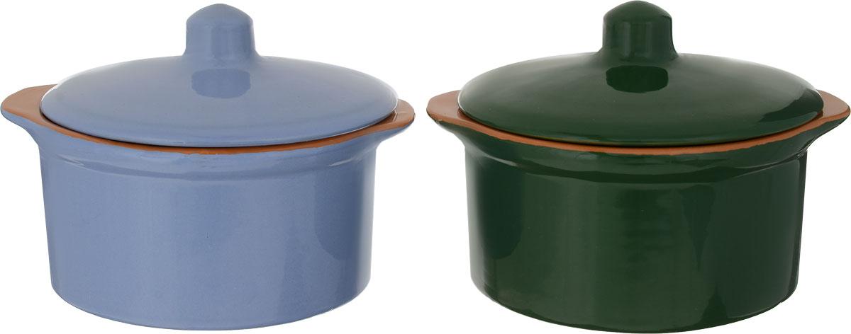 Кастрюля Борисовская керамика Радуга, цвет: синий, зеленый, 500 мл, 2 штРАД14456738_синий, зеленыйКастрюля Борисовская керамика Радуга выполнена из высококачественной термостойкой керамики. Покрытие абсолютно безопасно для здоровья, не содержит вредных веществ. Керамика предотвращает прилипание пищи и обеспечивает превосходные результаты. Посуда имеет элегантный корпус и привлекательный внешний вид.Кастрюля оснащена удобными боковыми ручками и керамической крышкой. Она плотно прилегает к краям посуды, сохраняя аромат блюд.