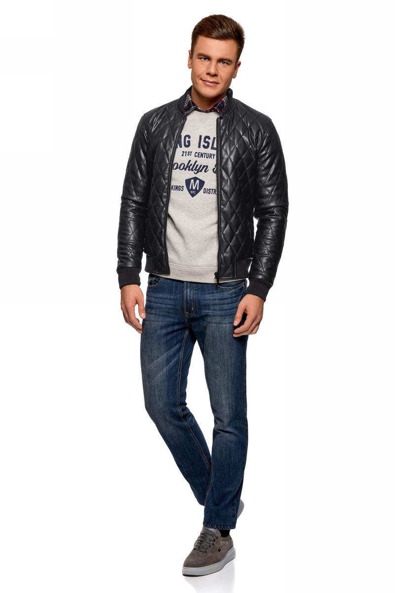 Фото Куртка мужская oodji Lab, цвет: темно-синий. 1L511058M/47800N/7900N. Размер XL-182 (56-182)