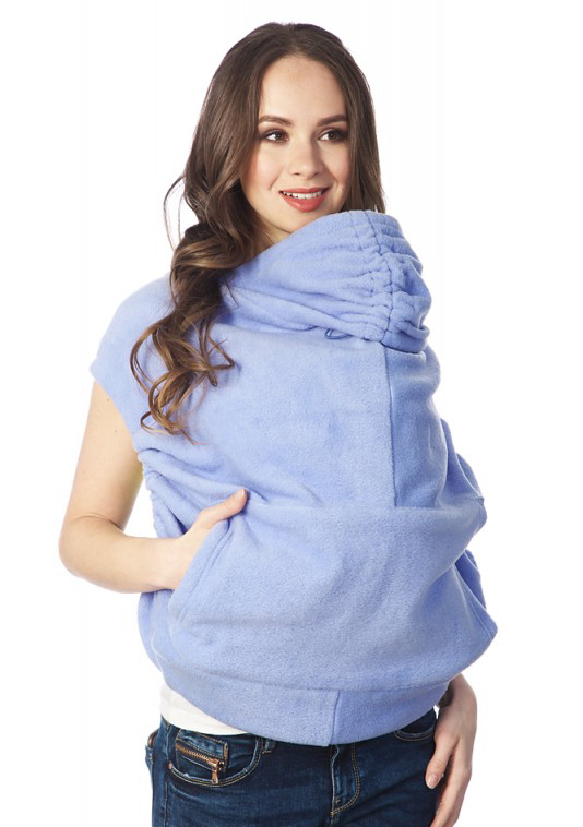 Купить Накидка для слингомамы Mum's Era Агата, цвет: голубой. 35974. Размер универсальный