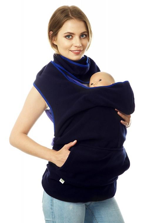 Купить Накидка для слингомамы Mum's Era Веста, цвет: темно-синий. 35215. Размер универсальный
