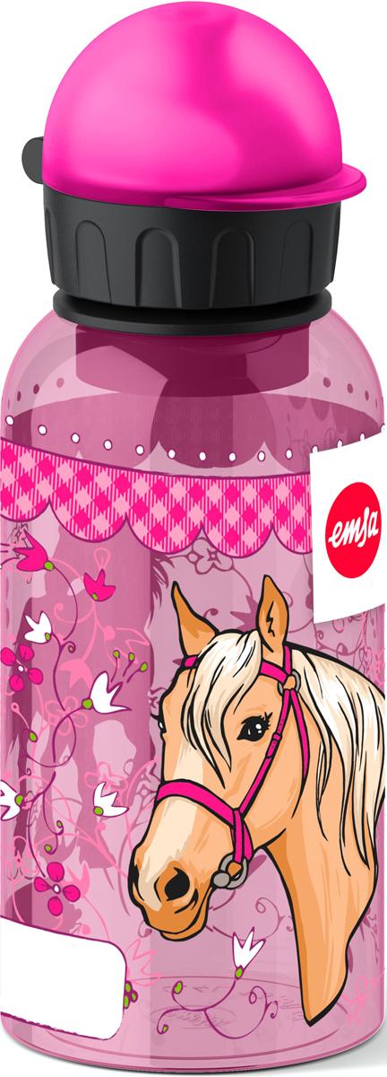 Фляжка Emsa Лошадка, цвет: розовый, 400 мл514403Детская питьевая фляжка Emsa изготовлена из алюминия и пищевого пластика. Можно мыть в посудомоечной машине.