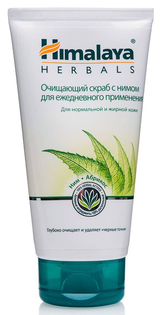 Himalaya Herbals Очищающий скраб для лица, с нимом, для проблемной кожи, 150 мл