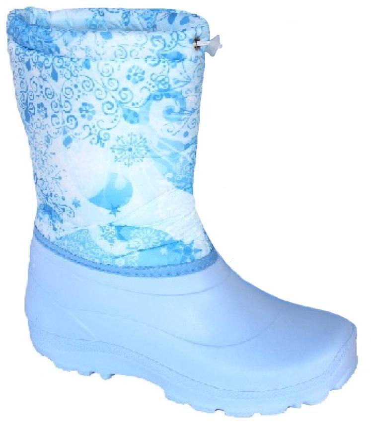Сапоги женские Дарина Зимушка, цвет: голубой. Размер 38-39Д404/38-39голубойЗимние сапоги Зимушка - удобные, теплые. Выдержат морозы до -20С. Удобный шнур-резинкапозволяет плотно зафиксировать сапог вокруг ноги и не позволит снегу попасть внутрь сапога.Вид литья: цельнолитьевое.Высота: 25 см.Материал подошвы: ЭВА.Cоставтекстильного элемента: фиксатор, люверсы, шнур-резина.Название ткани: Оксфорд 210 +ППУ.Свойства ткани Оксфорд (Oxford) - это прочная ткань из синтетических волокон (нейлонаили полиэстера) определенной структуры с нанесенным полиуретановым покрытием (PU илиPVC). Это покрытие обеспечивает водонепроницаемость ткани оксфорд и препятствуетнакоплению грязи между волокнами. Рулонный пенополиуретан (ППУ) широко используется вобувной промышленности.Не съёмный.Кол-во слоев: 3.Вид ткани: ворсин + стелькаЭВА.Состав ткани однослойное ворсованное полотно из полиэстера. Поверхностнаяплотность 400 г/м2. Используется как альтернатива искусственному меху.Швы 0,5-0,7. Технология шва стачной шов с открытым срезом, стачной шов с обметанным срезом, окантовкаверхнего среза тесьмой.Сезон: зима.