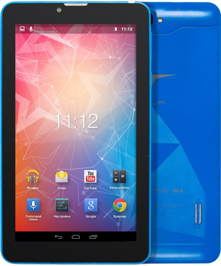 Tesla Impulse 7.0C 3G, BlueУТ-00000168Tesla Impulse 7.0C 3G практичный планшетный компьютер. Четырёх ядерный процессор с частотой 1.3 ГГц и 1 ГБ оперативной памяти позволит с легкостью пользоваться многочисленными приложениями для Android. Диагональ дисплея 7. Разрешение экрана 1024х600 пикселей позволит просматривать фильмы в хорошем качестве. Встроенная память объемом 8 ГБ и карточка microSD вместит всю необходимую информацию. Модули 3G и Wi-Fi обеспечивают постоянный доступ к сети интернет. При помощи встроенного GPS-модуля вы всегда сможете определить точное местонахождение.Планшет сертифицирован EAC и имеет русифицированный интерфейс, меню и Руководство пользователя.