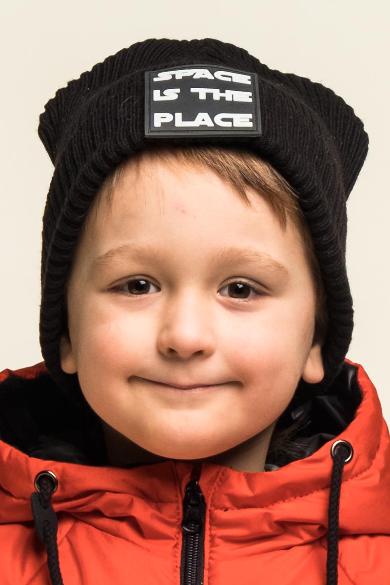 Шапка детская Boom!, цвет: черный. 80271_BAU. Размер 5480271_BAUВязаная шапка от Boom! выполнена из акриловой пряжи. Такая шапка с отворотом согреет ушки вашего малыша в холодную погоду.