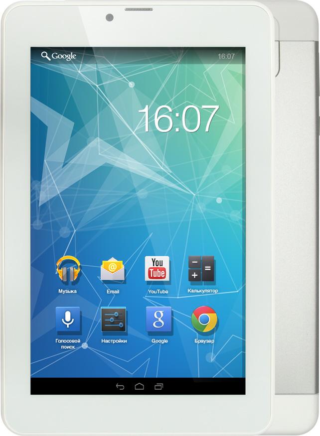 Tesla Neon Blanc 7.0 3G, SilverУТ-00000200Tesla Neon Blanc 7.0 3G практичный планшетный компьютер. Четырёх ядерный процессор с частотой 1.3 ГГЦ и 1 ГБ оперативной памяти позволит с легкостью пользоваться многочисленными приложениями для Android. Диагональ IPS дисплея 7. Разрешение экрана 1280х800 пикселей позволит просматривать фильмы в хорошем качестве. Встроенная память объемом 8 ГБ и карточка microSD вместит всю необходимую информацию. Модули 3G и Wi-Fi обеспечивают постоянный доступ к сети интернет. При помощи встроенного GPS-модуля вы всегда сможете определить точное местонахождение.Планшет сертифицирован EAC и имеет русифицированный интерфейс, меню и Руководство пользователя.