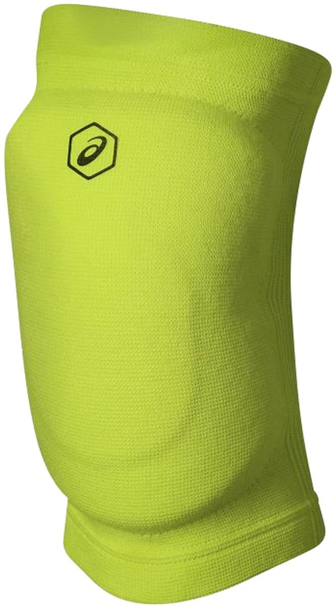 Наколенники волейбольные Asics Gel Kneepad, цвет: зеленый. Размер S146815Наколенники Asics Gel Knee Pad для профессиональных игроков в волейбол. Вставки амортизирующего геля (Asics Gel) и пены (полиуретан) эффективно поглощают удары и принимают форму в соответствии с индивидуальными анатомическими особенностями спортсмена.Обхват ноги в области над коленной чашечкой: 38-42 см.