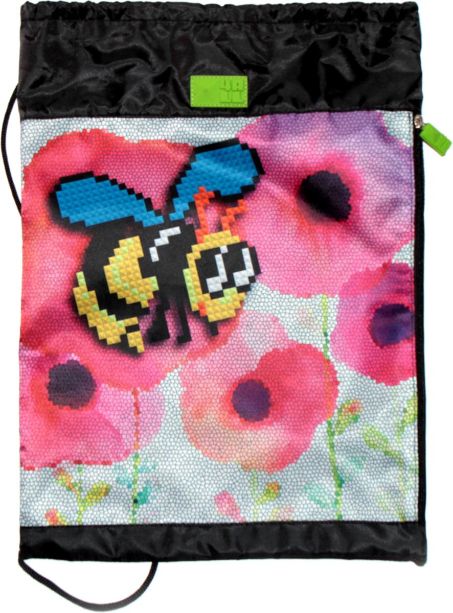 4ALL Сумка для сменной обуви Kids Веселая пчелкаM61-01Мешок 4ALL  Веселая пчелка из прочной водооттлкивающей ткани с боковым карманом!