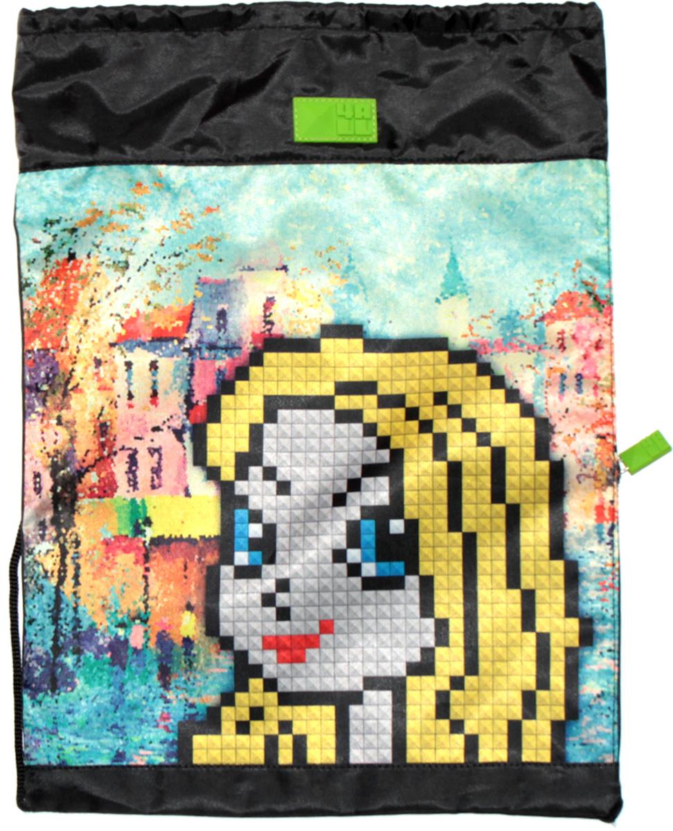 4ALL Сумка для сменной обуви Kids Девочка БлондиM61-05Мешок 4ALL Девочка блонди из прочной водооттлкивающей ткани с боковым карманом!