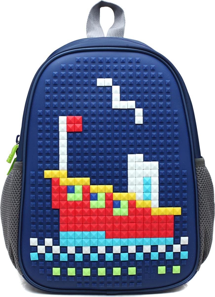 4ALL Рюкзак дошкольный Case Mini цвет синийRC61-03NРюкзак для самых маленьких (от 3 до 6 лет)с уникальной силиконовой панелью для создания мозаичной картинки с набором крупных битов CASE.