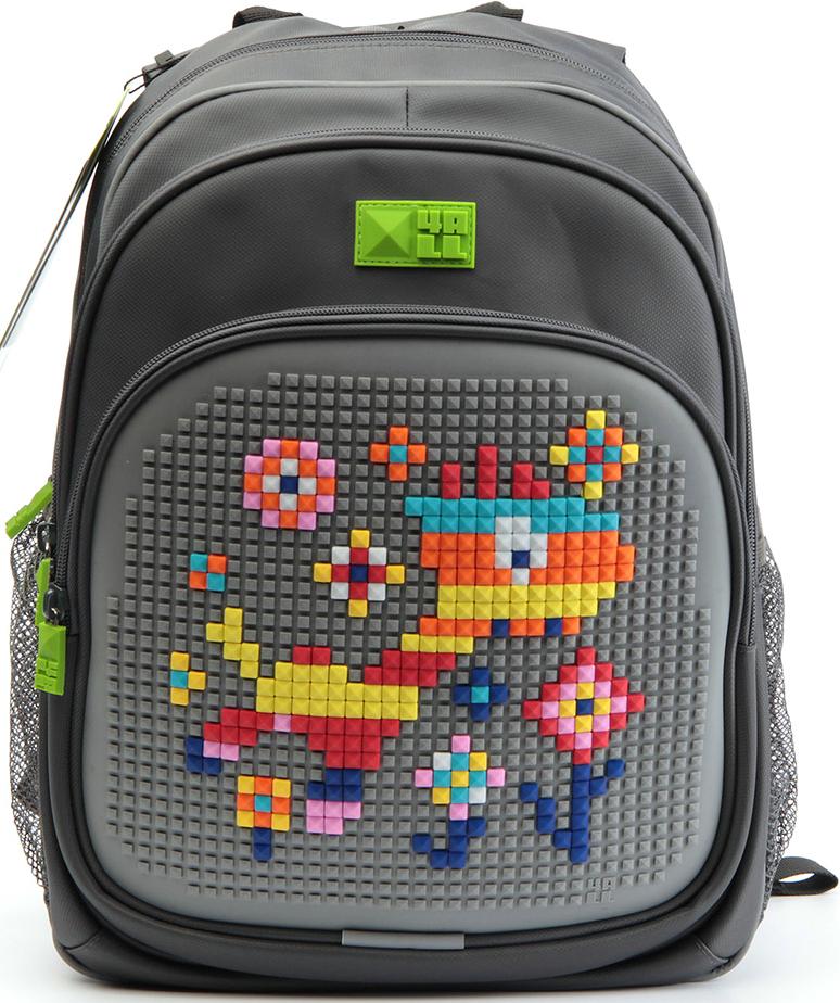 4ALL Рюкзак Kids цвет серыйRK61-10NРюкзак KIDS с водоотталкивающей пропиткой, ортопедической спинкой, силиконовой панелью и разноцветными мозаичными БИТАМИ, с помощью которых можно создавать графические шедевры, развивать мелкую моторику рук