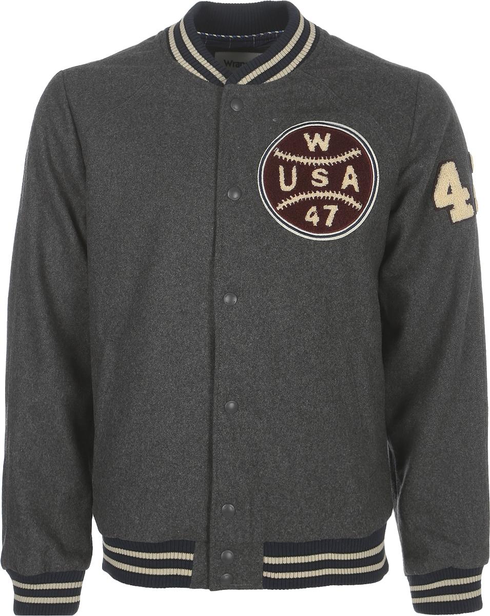Куртка мужская Wrangler, цвет: серый. W4702WF06. Размер XXL (54)