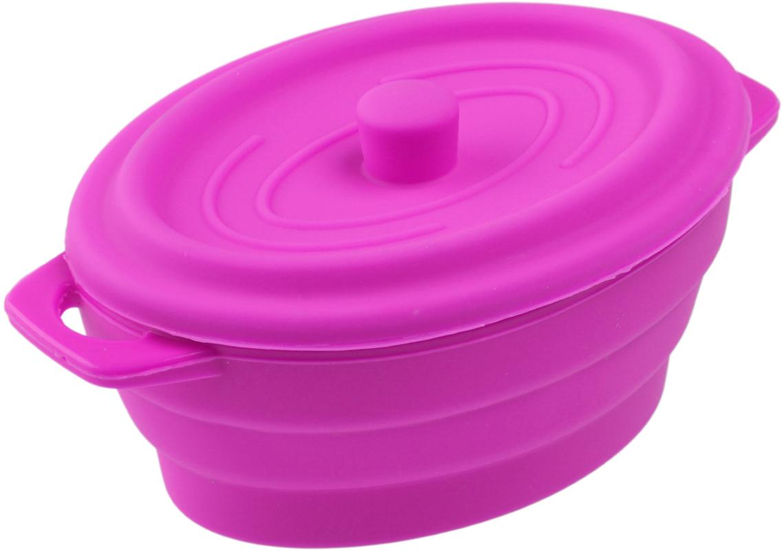 Кокотница-форма для запекания Доляна Юзи. Круг, складная, с крышкой, цвет: розовый, 17 х 11,5 х 7 см861107_розовыйФорма для выпечки из силикона — современное решение для практичных и радушных хозяек. Оригинальный предмет позволяет готовить в духовке любимые блюда из мяса, рыбы, птицы и овощей, а также вкуснейшую выпечку. Почему это изделие должно быть на кухне? блюдо сохраняет нужную форму и легко отделяется от стенок после приготовления; высокая термостойкость (от –40 до 230 ?) позволяет применять форму в духовых шкафах и морозильных камерах; небольшая масса делает эксплуатацию предмета простой даже для хрупкой женщины; силикон пригоден для посудомоечных машин; высокопрочный материал делает форму долговечным инструментом; при хранении предмет занимает мало места.Советы по использованию формы: Перед первым применением промойте предмет теплой водой. В процессе приготовления используйте кухонный инструмент из дерева, пластика или силикона. Перед извлечением блюда из силиконовой формы дайте ему немного остыть, осторожно отогните края предмета. Готовьте с удовольствием! Как выбрать форму для выпечки – статья на OZON Гид.