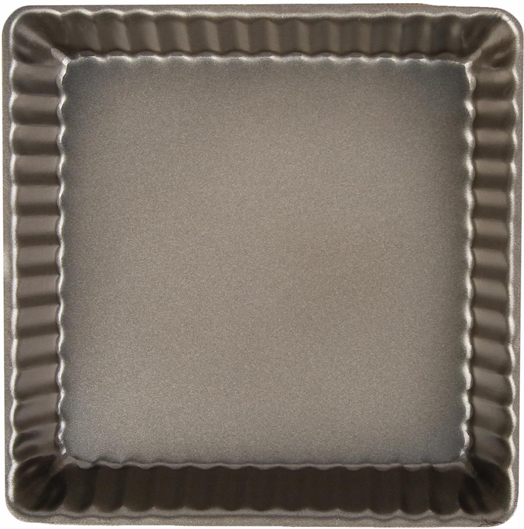 """Форма Доляна """"Рифленый квадрат. Доротея"""" с антипригарным покрытием пригодится каждому  повару, который привык готовить быстро и вкусно. Достоинства предмета: Материал - углеродистая сталь - отличается особой прочностью и сохраняет все  эксплуатационные свойства при температуре до +450 °С. Эффективное теплораспределение ускоряет процесс готовки.  Антипригарное покрытие оберегает блюда от пригорания и сокращает расход масла.  Поверхность не впитывает запахов и не вступает в реакции с продуктами питания.  Форма легко отмывается.  При аккуратном использовании изделие прослужит долгие годы. Рекомендуется избегать  применения металлических предметов, губок и высокоабразивных моющих средств. Перед  первым использованием тщательно промойте форму."""
