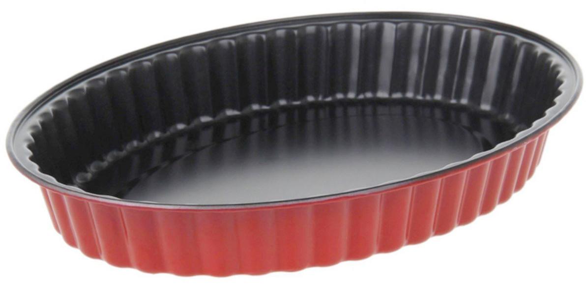 Форма для выпечки Доляна Рифленый овал. Ренард, с антипригарным покрытием, 30 х 22 х 3 см583785Форма с антипригарным покрытием пригодится каждому повару, который привык готовить быстро и вкусно. Достоинства предмета Материал — углеродистая сталь — отличается особой прочностью и сохраняет все эксплуатационные свойства при температуре до +450 °С. Эффективное теплораспределение ускоряет процесс готовки. Антипригарное покрытие оберегает блюда от пригорания и сокращает расход масла. Поверхность не впитывает запахов и не вступает в реакции с продуктами питания. Форма легко отмывается. При аккуратном использовании изделие прослужит долгие годы. Рекомендуется избегать применения металлических предметов, губок и высокоабразивных моющих средств. Перед первым использованием тщательно промойте форму.