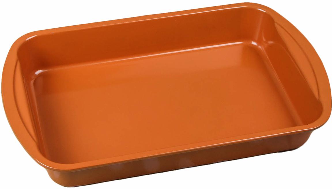 Форма для выпечки Доляна Прямоугольник. Прима, с керамическим покрытием, с ручками, 38,6 х 24,5 х 5,5 см2600587От качества посуды зависит не только вкус еды, но и здоровье человека. Форма для выпечки 38,6х24,5х5,5 см Прямоугольник. Прима, керамическое покрытие, с ручками — товар, соответствующий российским стандартам качества. Любой хозяйке будет приятно держать его в руках. С нашей посудой и кухонной утварью приготовление еды и сервировка стола превратятся в настоящий праздник.