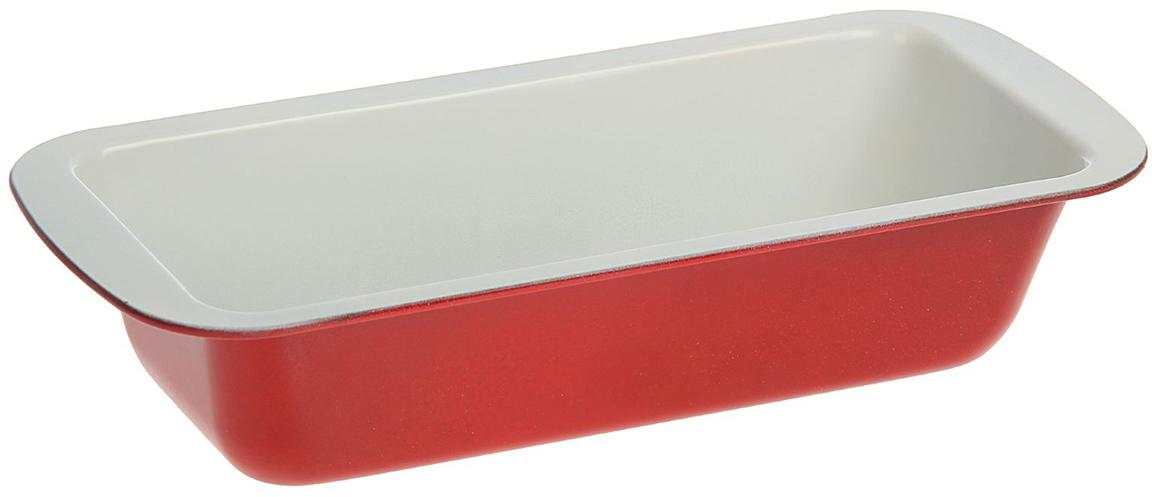 Форма для выпечки Доляна Прямоугольник. Флери, с керамическим покрытием, цвет: белый, красный, 30 х 13 х 6 см141608_белый, красныйФорма для выпечки с керамическим покрытием — один из самых важных предметов на кухне хорошей хозяйки. С качественной посудой радовать домашних пирогами, кексами, запеканками и прочей вкуснятиной вы сможете хоть каждый день! Достоинства изделия: равномерно распределяет тепло по всей внутренней поверхности; предотвращает пригорание пищи; способствует ее быстрому приготовлению; обладает стильным внешним видом. Кроме того, предмет не впитывает запахов и позволяет легко вынимать готовый продукт. Прочный корпус защищает изделие от внешней деформации. Рекомендуется избегать перепадов температуры: ставьте форму только в холодную или теплую духовку. Не допускайте падений и не используйте высокоабразивные моющие средства (это защитит глазурь от сколов и царапин).