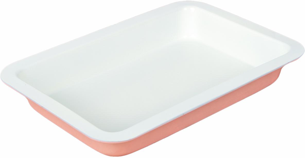 Форма для выпечки Доляна Прямоугольник. Флери, с керамическим покрытием, цвет: белый, розовый, 34 х 21 х 5 см1001852_белый, розовыйФорма для выпечки с керамическим покрытием — один из самых важных предметов на кухне хорошей хозяйки. С качественной посудой радовать домашних пирогами, кексами, запеканками и прочей вкуснятиной вы сможете хоть каждый день! Достоинства изделия: равномерно распределяет тепло по всей внутренней поверхности; предотвращает пригорание пищи; способствует ее быстрому приготовлению; обладает стильным внешним видом. Кроме того, предмет не впитывает запахов и позволяет легко вынимать готовый продукт. Прочный корпус защищает изделие от внешней деформации. Рекомендуется избегать перепадов температуры: ставьте форму только в холодную или теплую духовку. Не допускайте падений и не используйте высокоабразивные моющие средства (это защитит глазурь от сколов и царапин).