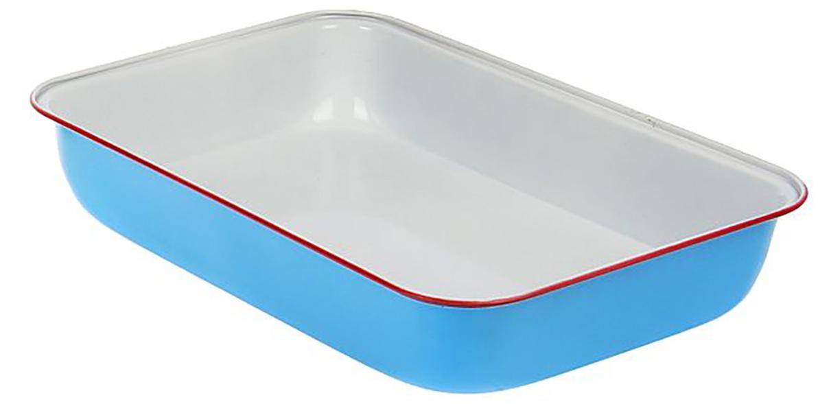 Форма для выпечки Доляна Прямоугольник. Флери, с керамическим покрытием, цвет: белый, голубой, 34 х 24 х 5 см774835Форма для выпечки с керамическим покрытием — один из самых важных предметов на кухне хорошей хозяйки. С качественной посудой радовать домашних пирогами, кексами, запеканками и прочей вкуснятиной вы сможете хоть каждый день! Достоинства изделия: равномерно распределяет тепло по всей внутренней поверхности; предотвращает пригорание пищи; способствует ее быстрому приготовлению; обладает стильным внешним видом. Кроме того, предмет не впитывает запахов и позволяет легко вынимать готовый продукт. Прочный корпус защищает изделие от внешней деформации. Рекомендуется избегать перепадов температуры: ставьте форму только в холодную или теплую духовку. Не допускайте падений и не используйте высокоабразивные моющие средства (это защитит глазурь от сколов и царапин).