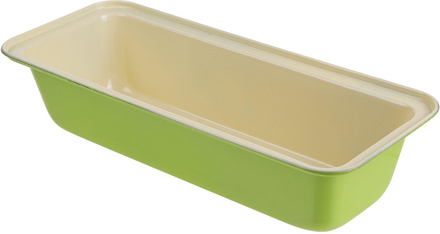 Форма для выпечки Доляна Хлеб. Флери, с керамическим покрытием, цвет: белый, зеленый, 32,5 х 16,5 х 7 см2395153_белый, зеленыйФорма для выпечки с керамическим покрытием — один из самых важных предметов на кухне хорошей хозяйки. С качественной посудой радовать домашних пирогами, кексами, запеканками и прочей вкуснятиной вы сможете хоть каждый день! Достоинства изделия: равномерно распределяет тепло по всей внутренней поверхности; предотвращает пригорание пищи; способствует ее быстрому приготовлению; форма в виде сердца прекрасно подходит для приготовления блюд для романтического вечера или праздничного стола. Кроме того, предмет не впитывает запахов и позволяет легко вынимать готовый продукт. Прочный корпус защищает изделие от внешней деформации. Рекомендуется избегать перепадов температуры: ставьте форму только в холодную или теплую духовку. Не допускайте падений и не используйте высокоабразивные моющие средства (это защитит глазурь от сколов и царапин).
