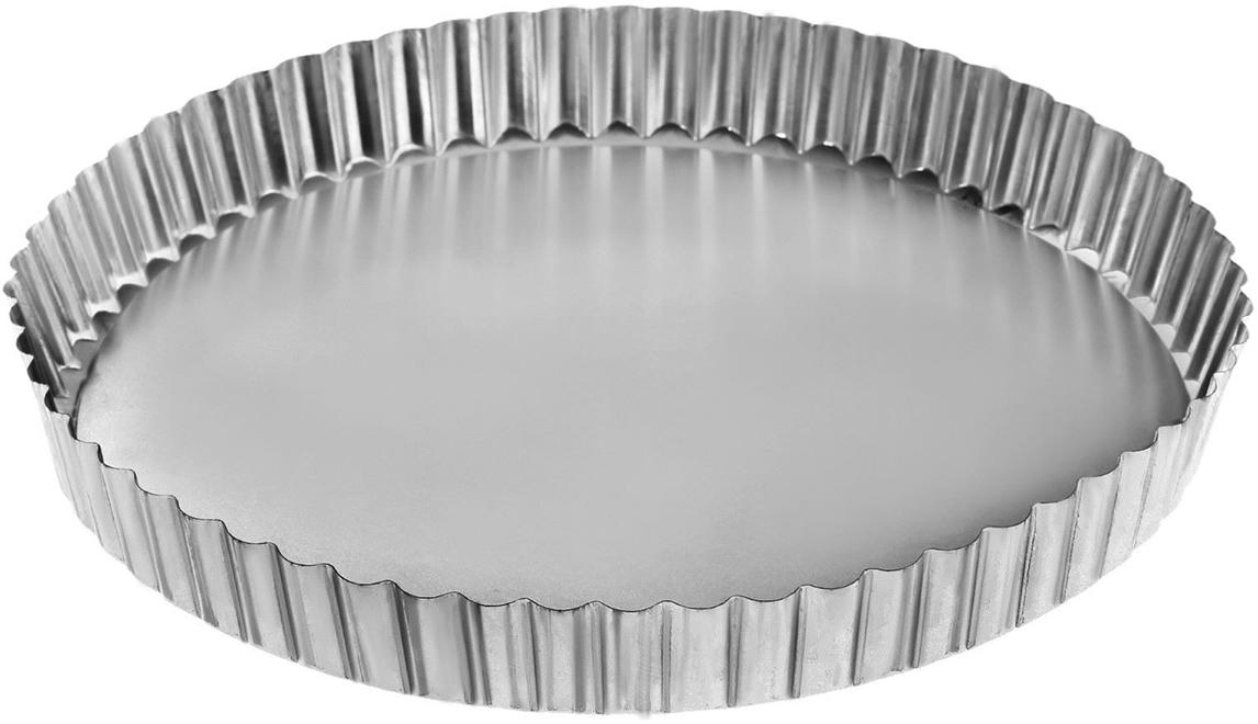 Форма для выпечки Доляна Круг рифленый, со съемным дном, 22 х 2,8 см2313585По-настоящему вкусная выпечка получается только тогда, когда используется качественный кухонный инструмент. Металлическая форма необходима тем, кто хочет готовить самые лучшие бисквиты и кексы. Особенности: съемное дно облегчает извлечение готового блюда; гладкая поверхность упрощает мойку; высокая прочность металла обеспечивает долговечность формы. Форма особенно понравится тем, кто любит готовить выпечку с аппетитной твердой корочкой. Перед применением рекомендуется смазывать изделие небольшим количеством подсолнечного масла.