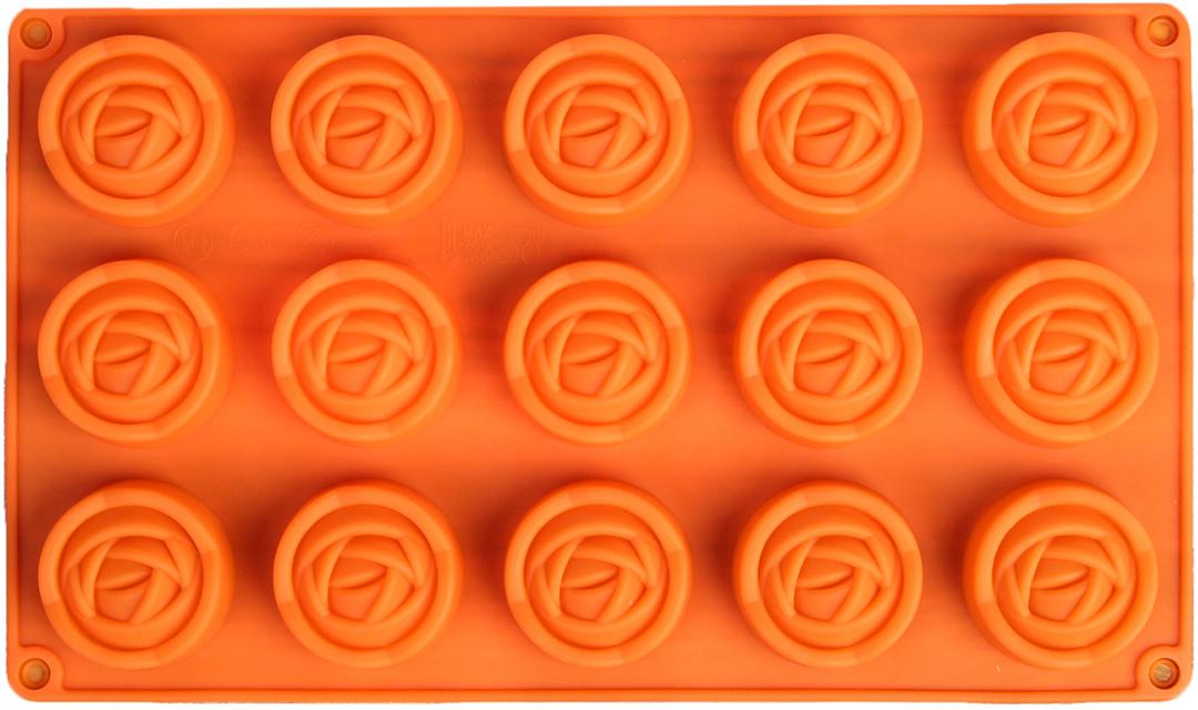 Форма для выпечки Доляна Роза. Бутон, цвет: оранжевый, 15 ячеек, 29,5 х 17,5 х 2 см2570343_оранжевыйОт качества посуды зависит не только вкус еды, но и здоровье человека. — товар, соответствующий российским стандартам качества. Любой хозяйке будет приятно держать его в руках. С нашей посудой и кухонной утварью приготовление еды и сервировка стола превратятся в настоящий праздник. Как выбрать форму для выпечки – статья на OZON Гид.