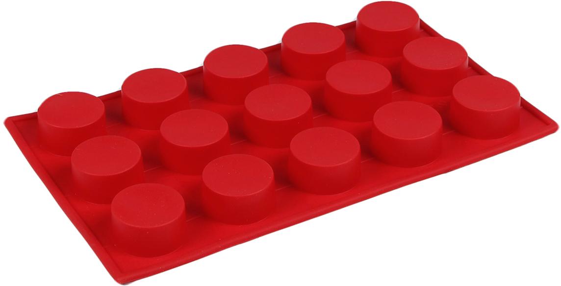 Форма для выпечки Доляна Круг, цвет: красный, 15 ячеек, 29 х 17 х 2 см2797138_красныйОт качества посуды зависит не только вкус еды, но и здоровье человека. Форма для выпечки 29х17х2 см Круг, 15 ячеек, цвета — товар, соответствующий российским стандартам качества. Любой хозяйке будет приятно держать его в руках. С нашей посудой и кухонной утварью приготовление еды и сервировка стола превратятся в настоящий праздник.