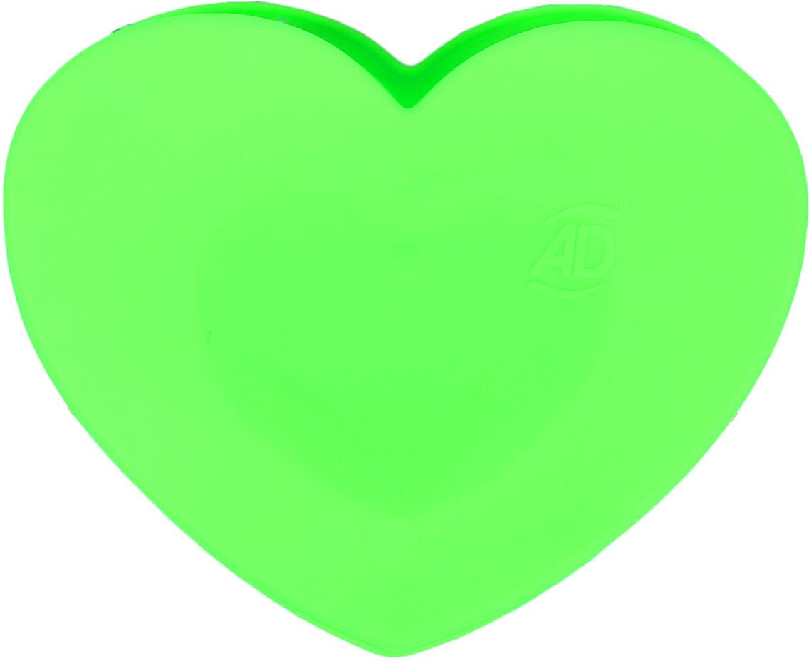 Форма для выпечки Доляна Сердце в сердце, цвет: зеленый, 2 ячейки2582011_зеленыйОт качества посуды зависит не только вкус еды, но и здоровье человека. — товар, соответствующий российским стандартам качества. Любой хозяйке будет приятно держать его в руках. С нашей посудой и кухонной утварью приготовление еды и сервировка стола превратятся в настоящий праздник.