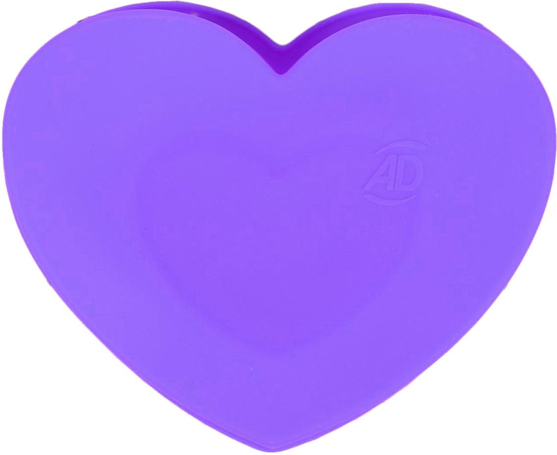 Форма для выпечки Доляна Сердце в сердце, цвет: фиолетовый, 2 ячейки2582011_фиолетовыйОт качества посуды зависит не только вкус еды, но и здоровье человека. — товар, соответствующий российским стандартам качества. Любой хозяйке будет приятно держать его в руках. С нашей посудой и кухонной утварью приготовление еды и сервировка стола превратятся в настоящий праздник.
