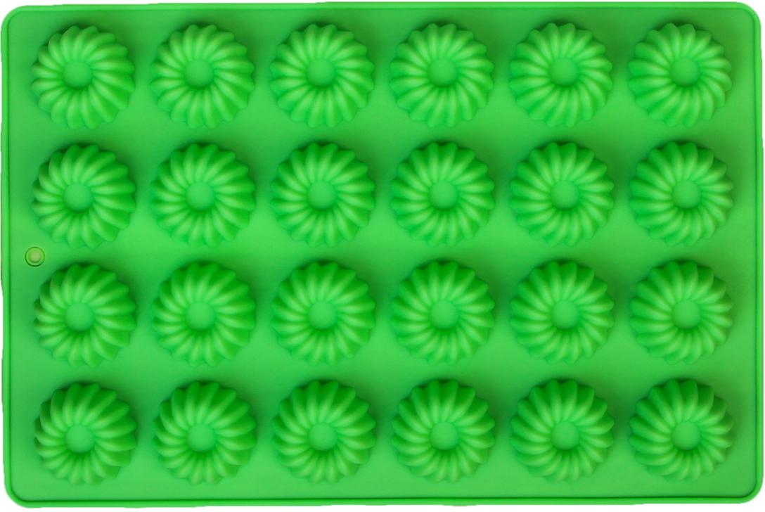 Форма для выпечки Доляна Немецкий кекс, цвет: зеленый, 24 ячеек, 30 х 20 х 2 см2570341_зеленыйОт качества посуды зависит не только вкус еды, но и здоровье человека. Форма для выпечки, 24 ячеек, 30х20х2 см Немецкий кекс, цвета — товар, соответствующий российским стандартам качества. Любой хозяйке будет приятно держать его в руках. С нашей посудой и кухонной утварью приготовление еды и сервировка стола превратятся в настоящий праздник.