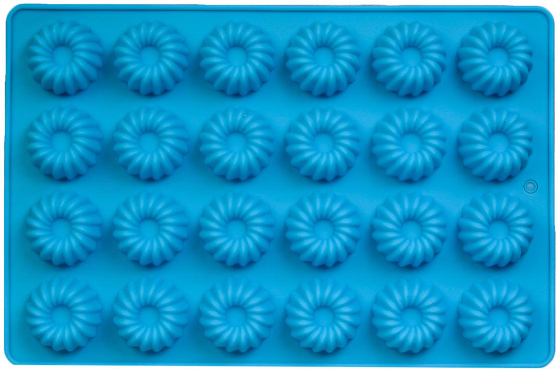 Форма для выпечки Доляна Немецкий кекс, цвет: голубой, 24 ячеек, 30 х 20 х 2 см2570341_голубойОт качества посуды зависит не только вкус еды, но и здоровье человека. Форма для выпечки, 24 ячеек, 30х20х2 см Немецкий кекс, цвета — товар, соответствующий российским стандартам качества. Любой хозяйке будет приятно держать его в руках. С нашей посудой и кухонной утварью приготовление еды и сервировка стола превратятся в настоящий праздник.