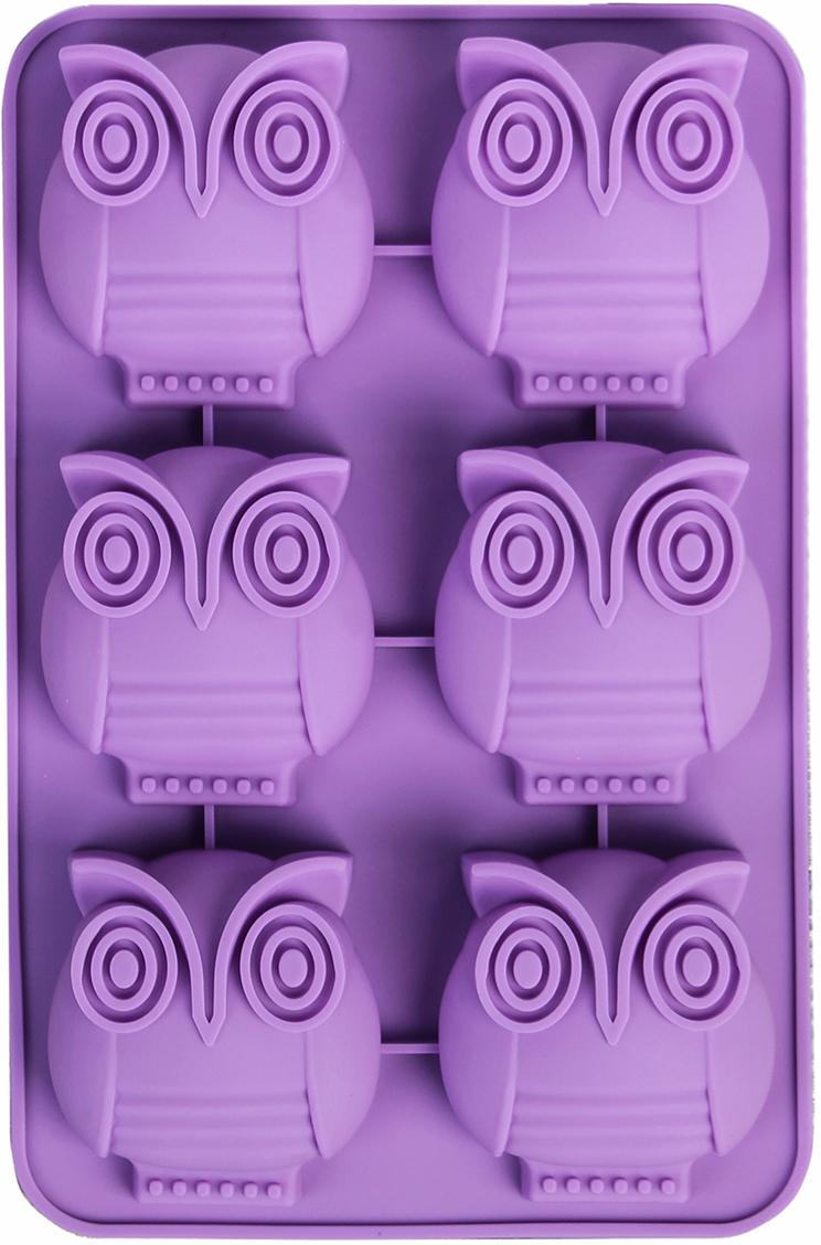 Форма для выпечки Доляна Совун, цвет: фиолетовый, 6 ячеек, 26 х 16,5 х 3 см2389229_фиолетовыйОт качества посуды зависит не только вкус еды, но и здоровье человека. Форма для выпечки, 6 ячеек, 26х16,5х3 см Совун, цвета — товар, соответствующий российским стандартам качества. Любой хозяйке будет приятно держать его в руках. С нашей посудой и кухонной утварью приготовление еды и сервировка стола превратятся в настоящий праздник.