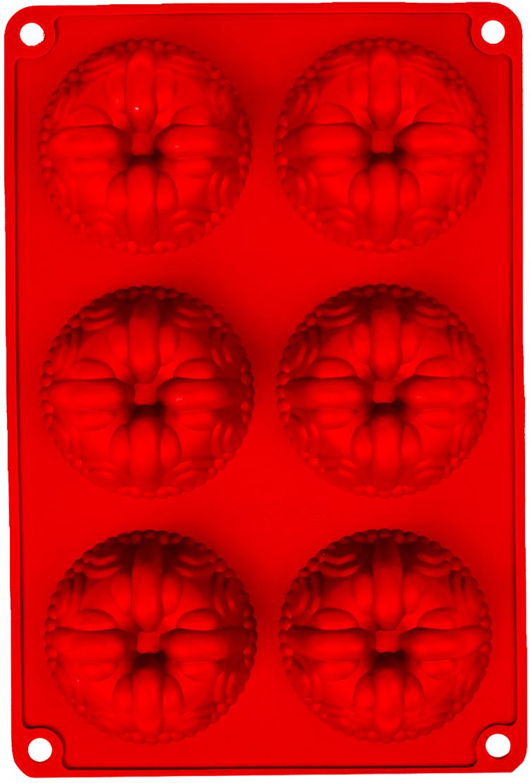 Форма для выпечки Доляна Немецкий кекс. Сладость, цвет: красный, 6 ячеек, 26 х 17,5 х 3 см2581339_красныйОт качества посуды зависит не только вкус еды, но и здоровье человека. Форма для выпечки 26х17,5х3 см Немецкий кекс. Сладость, 6 ячеек, цвета — товар, соответствующий российским стандартам качества. Любой хозяйке будет приятно держать его в руках. С нашей посудой и кухонной утварью приготовление еды и сервировка стола превратятся в настоящий праздник.